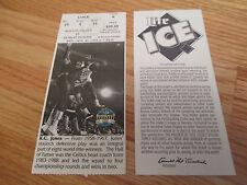 Game 6 KC JONES Last Season BOSTON CELTICS 11/30/94 TICKET Boston Garden