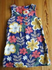 Mini boden girls floral cord dress Age 6-7 years Multicoloured Fully lined