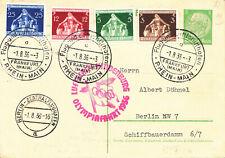 Zeppelin postcard,Germany,Sieger #427B on Postal stationary
