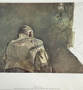 Framed Andrew Wyeth's Spring Sun Lithograph