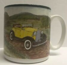 Old Car Design COFFEE CUP 1993 FLOWERS INC. BALLOONS MUG ANTIQUE CAR S. TUCK