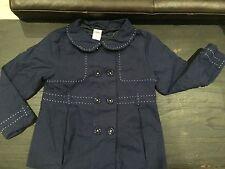 Gymboree navy blue Size 4T 5T 4 5 jacket trench coat  uniform jacket 49.95