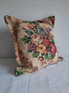 Vintage SANDERSON LINEN VELVET Cushion Cover Square 50cm sq original ONE OFF OLD