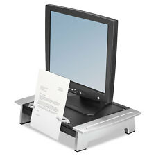 Fellowes Monitor Riser Plus 19 7/8 x 14 1/16 x 6 1/2 Black/Silver 8036601