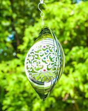 Gilde Windspiel Edelstahl Circle Yin Yang L 3 x B 22 H 72 cm  silber Glaskugel