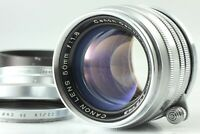 *Exc+5 w/Hood* Canon 50mm f1.8 Leica Screw Mount L39 LTM silver MF From JAPAN