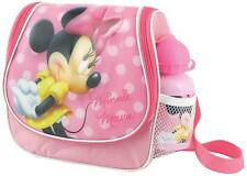 Disney Minnie Mouse Rosa Fiambrera con Zumo Botella