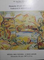 1987 Catalogue Di Vendita Illustre L' L'Isle-adam Lavagna Moderno