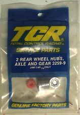 Tcr 3259-9 rear wheel hubs, axle and gear (2) jam car only slotless