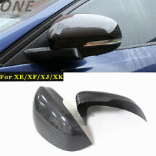 Carbon Fiber Side Mirror Cover Caps for 09+ Jaguar XE XF XJ/R XK/RS Add on Type