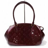 Authentic Louis Vuitton Hand Bag Sherwood PM M91492 Bordeaux Vernis 1104616