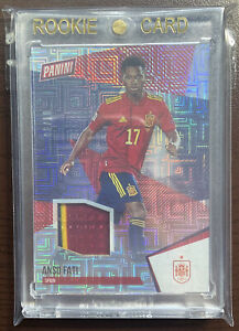 2021 National Panini Pack Ansu Fati 06/10 3x Color SSP Patch Spain Soccer #44 🔥