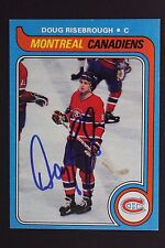 DOUG RISEBROUGH Montreal Canadiens Autograph 1979 Topps #13 Signed Card JSA 16H