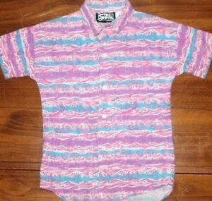 Vintage   US made  Crazy Cool   Button  Up    Shirt   Kid's  Large    EUC