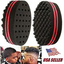 Magic Hair Brush Sponge Double Side Texture Locking Twist Coil Afro Curl Wave US