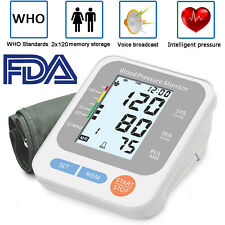 Automatic Blood Pressure Monitor Digital BP Cuff Pulse Heart Rate Machine Arm