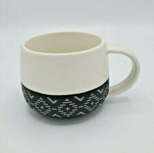 New listing Peets Coffee Coffee Cup Mug Ceramic 12oz Collectable Black White Tribal Design