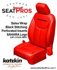 Leather Seat Covers 13 18 Jeep Wrangler Jk 2 4 Door Salsa Red Black Logo Sahara