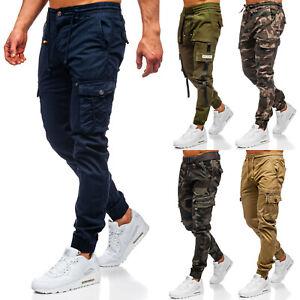 Joggerhose Cargohose Trainingshose Cargo Jeans Sport Chino Herren Mix BOLF Camo