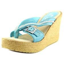 Sandalias con tiras de mujer de color principal azul Talla 40