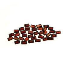 5 PIECES OF 5x3mm OCTAGON-FACET DEEP RED/ORANGE NATURAL MOZAMBIQUE GARNET GEMS