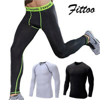 US Mens Thermal Boy Compression Tight Base Layer Pants Leggings Gym Sport Pants