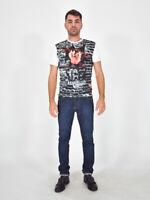 ICEBERG T-Shirt Fantasia Tazmania Maglia Vestibilità S Uomo Man Vintage Casual