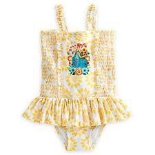 New Disney Girls Princess Anna & Elsa Frozen Fever Swimsuit 7 8 Yr NWT One Piece