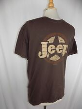 Jeep Star Men's Large Brown Short Sleeve Graphic T Shirt