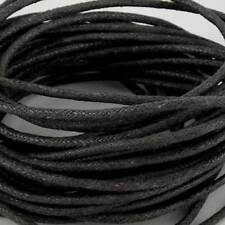 10 mètres x 2mm black waxed cotton cord string string pour bracelets & collier
