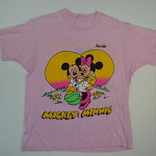 True Vintage '80s Rare Mickey Mouse with Minnie Florida Sunset T-Shirt Men's M