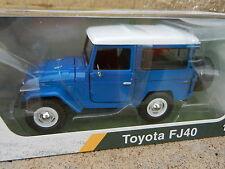 1:24 MOTOR MAX *BLUE & WHITE* Toyota FJ40 Land Cruiser *DIECAST* NIB!