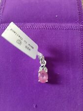 1.86cts Hot Pink Sapphire & White Topaz SS Pendant (F).