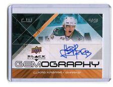 2008-09 UD Gemography #G-LK Lukas Kaspar Sharks Autographed jh10