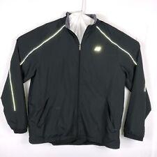 New Balance Men's Windbreaker Reflective Running Jacket Black Size XL