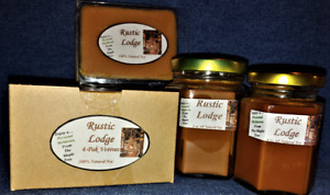**NEW** Hand Poured North Woods Rustic Lodge Soy Candles, Tarts & 4-Pack Votives
