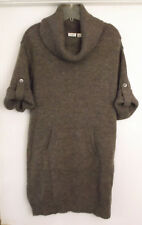 8773d401fc Cato Cowl Neck Sweater Dress Tabbed Sleeve Brown Acrylic Women s Size L