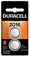 Duracell 2016 3V Lithium Coin Battery Long Lasting [2028] DL2016 CR2016 [2-Pack]
