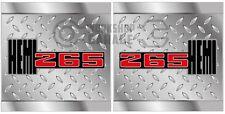 HEMI CHRYSLER VALIANT - Badge Style Stickers - HEMI 265 checkerplate #10