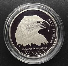 Canada 2000 50 Cents Bald Eagle Sterling Silver Birds Of Prey - Sealed from Mint