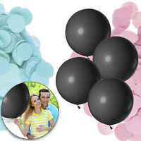 36inch He Or She Gender Reveal Latex Balloon Confetti Baby Shower Party Decor UK