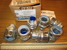 """Steel Straight 1"""" INSULATED LIQUIDTIGHT CONNECTORS for Flexible Metal Conduit"""