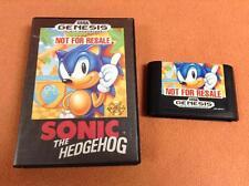 Sonic the Hedgehog 1 *Authentic* Sega Genesis Game FREE SHIP w/ Case!