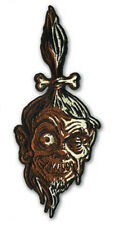 "Authentic RETRO-A-GO-GO! Shrunken Head Embroidered Patch 7.375"" x 3"" NEW"
