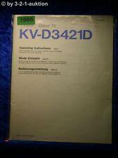 Sony Bedienungsanleitung KV D3421D Color TV (#1905)
