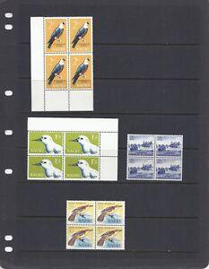 NAURU 1963-5 Scott 49 54-56 blocks/4 VF MNH