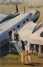 "Vintage Lufthansa ""Air Travel"" Travel Poster"