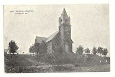 LINWOOD MD Brethren's Church Antique 1910 B&W Postcard