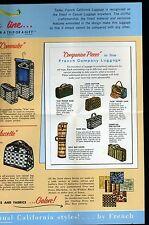 ca1950s catalog like brochure, 16 panels, FRENCH AVION CALIFORNIA STYLE LUGGAGE
