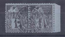 Colonies Françaises - Guadeloupe - n° 14 + 14a(A) oblitérés
